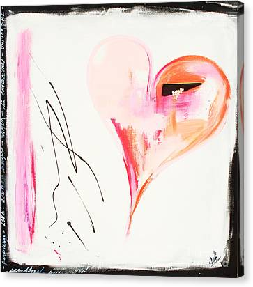 Merry Berry Heart Canvas Print by Anahi DeCanio