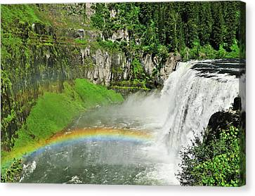 Mesa Falls Canvas Print by Greg Norrell