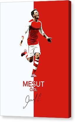Mesut Ozil Canvas Print by Semih Yurdabak