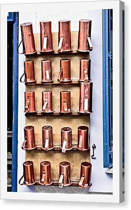 Metal Cups Canvas Print by Tom Gowanlock