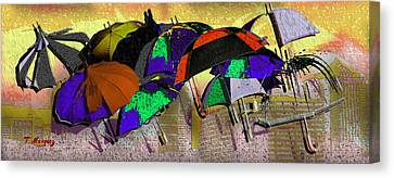 Metro Rains Canvas Print by Tony Marquez