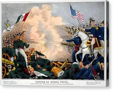 Mexican-american War. Battle Of Buena Canvas Print by Everett