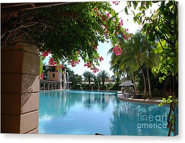Miami Biltmore Pool Canvas Print by Joseph Diaz