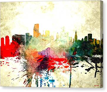 Miami Canvas Print by Daniel Janda