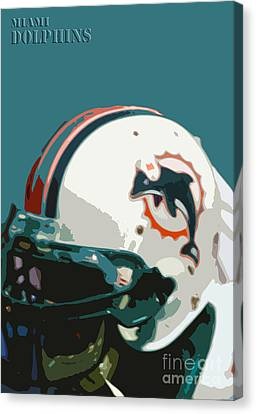 Miami Dolphins Football Team Canvas Print