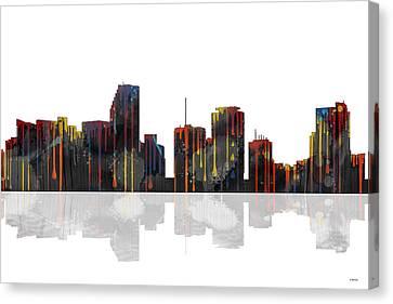Miami Florida Skyline Canvas Print