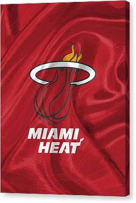 Dunk Canvas Print - Miami Heat by Afterdarkness