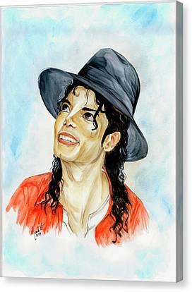 Michael Jackson - Keep The Faith Canvas Print by Nicole Wang