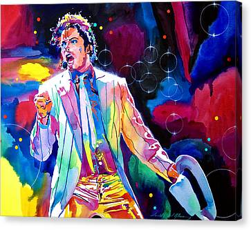 Performers Canvas Print - Michael Jackson Smooth Criminal by David Lloyd Glover