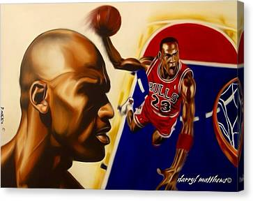 Michael Jordan Canvas Print by Darryl Matthews