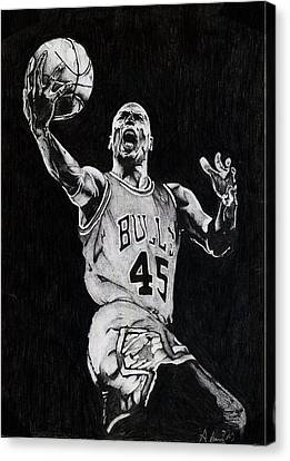 Michael Jordan Canvas Print by Hari Mohan