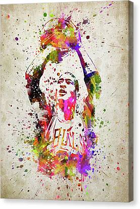 Michael Jordan In Color Canvas Print