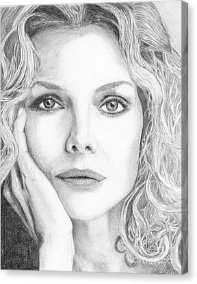Michelle Pfeiffer Canvas Print by Alexandra Riley