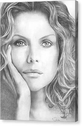 Michelle Pfeiffer Canvas Print by Karen  Townsend
