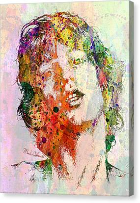 Abstract Digital Canvas Print - Mick Jagger by Mark Ashkenazi
