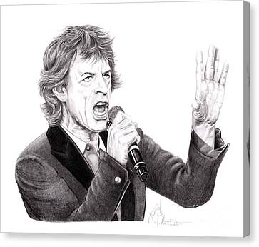 Mick Jagger Canvas Print - Mick Jagger by Murphy Elliott
