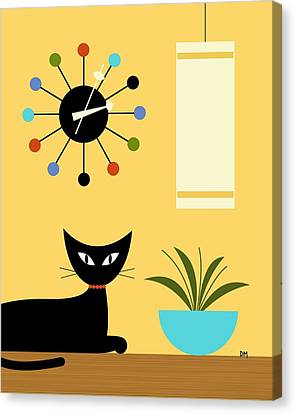 Mid Century Ball Clock 3 Canvas Print