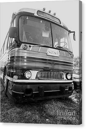 Mid Century Gm Greyhound Bus Canvas Print by Scott D Van Osdol