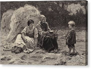 Midday Rest Canvas Print by Frederick Morgan
