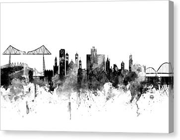North East Canvas Print - Middlesbrough England Skyline by Michael Tompsett