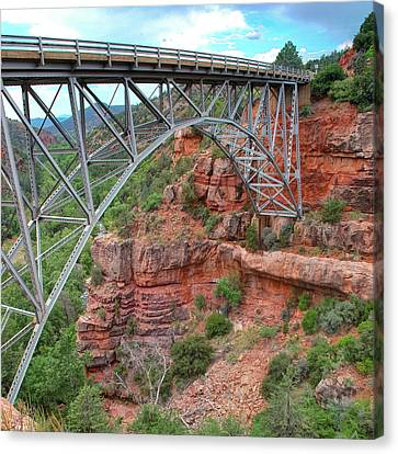 Midgley Bridge In Sedona Arizona - 1x1 Canvas Print by Gregory Ballos