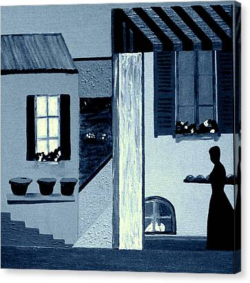 Midnight In Limoux Canvas Print