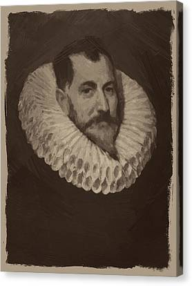 Miguel De Cervantes Canvas Print by Afterdarkness