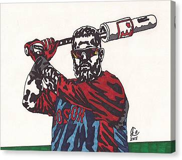 Boston Red Sox Canvas Print - Mike Napoli 2 by Jeremiah Colley