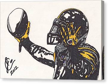 Steelers Canvas Print - Mike Wallace 3 by Jeremiah Colley