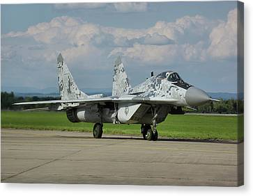 Canvas Print featuring the photograph Mikoyan-gurevich Mig-29as by Tim Beach