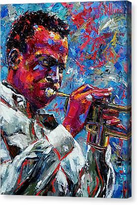 Miles Davis Canvas Print by Debra Hurd