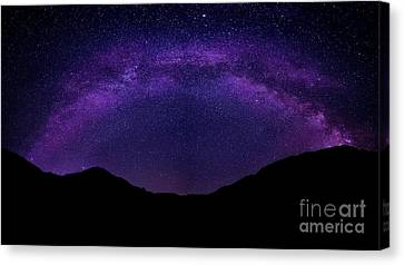 milky way above the Alps Canvas Print by Hannes Cmarits