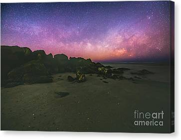 Milky Way Beach Canvas Print