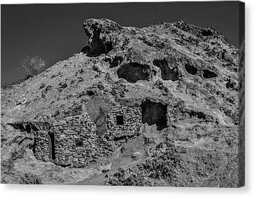 Miners Ghost Canvas Print - Miners Hut In The Hillside by Garry Gay