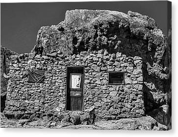 Miners Ghost Canvas Print - Miners Stone Shack by Garry Gay