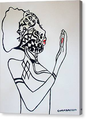 Mirror Mirror Canvas Print by Gloria Ssali