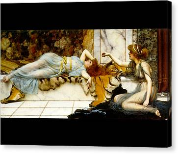 Mischief And Repose Canvas Print by John William Godward