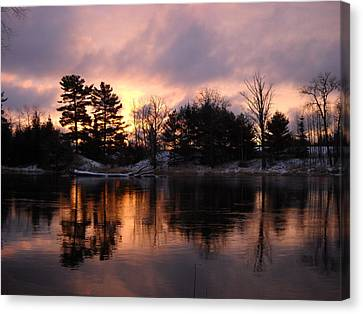 Mississippi River Dawn Light Canvas Print by Kent Lorentzen