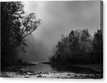 Canvas Print featuring the photograph Mist On The River by James Barber