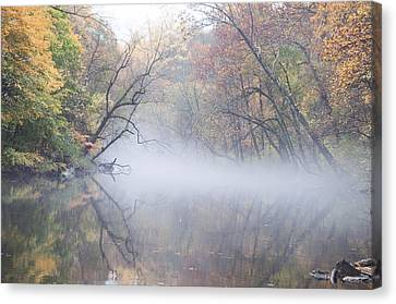 Philadelphia Phillies Canvas Print - Mist On The Wissahickon by Bill Cannon