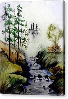 Misty Creek Canvas Print