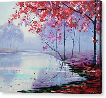 Misty Lake Canvas Print by Graham Gercken