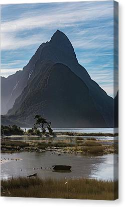 Canvas Print featuring the photograph Mitre Peak / Rahotu by Gary Eason