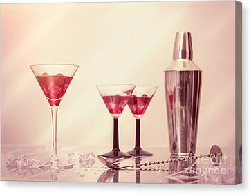 Mixing Cocktails Canvas Print by Amanda Elwell