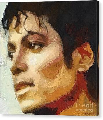M J Canvas Print by Dragica Micki Fortuna