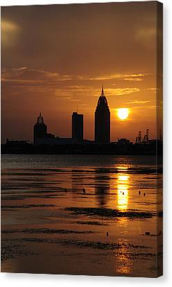 Mobile At Sunset Canvas Print