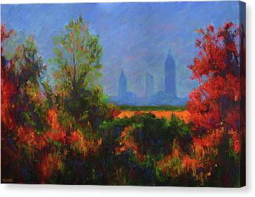Mobile Skyline From Felix's Canvas Print by Vernon Reinike