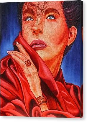 Modeled Beauty Canvas Print by Shahid Muqaddim