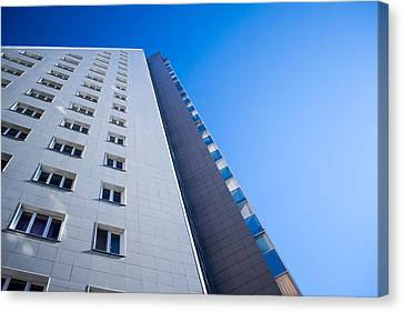 Canvas Print featuring the photograph Modern Apartment Block by John Williams