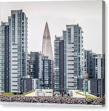 Modern Apartment Buildings Surrounding Canvas Print by Panoramic Images